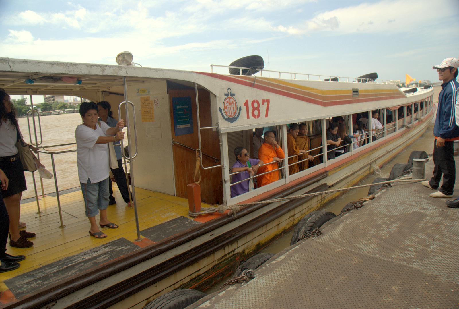 Bangkok (ostatni spacer autobusem i rzeką) 6