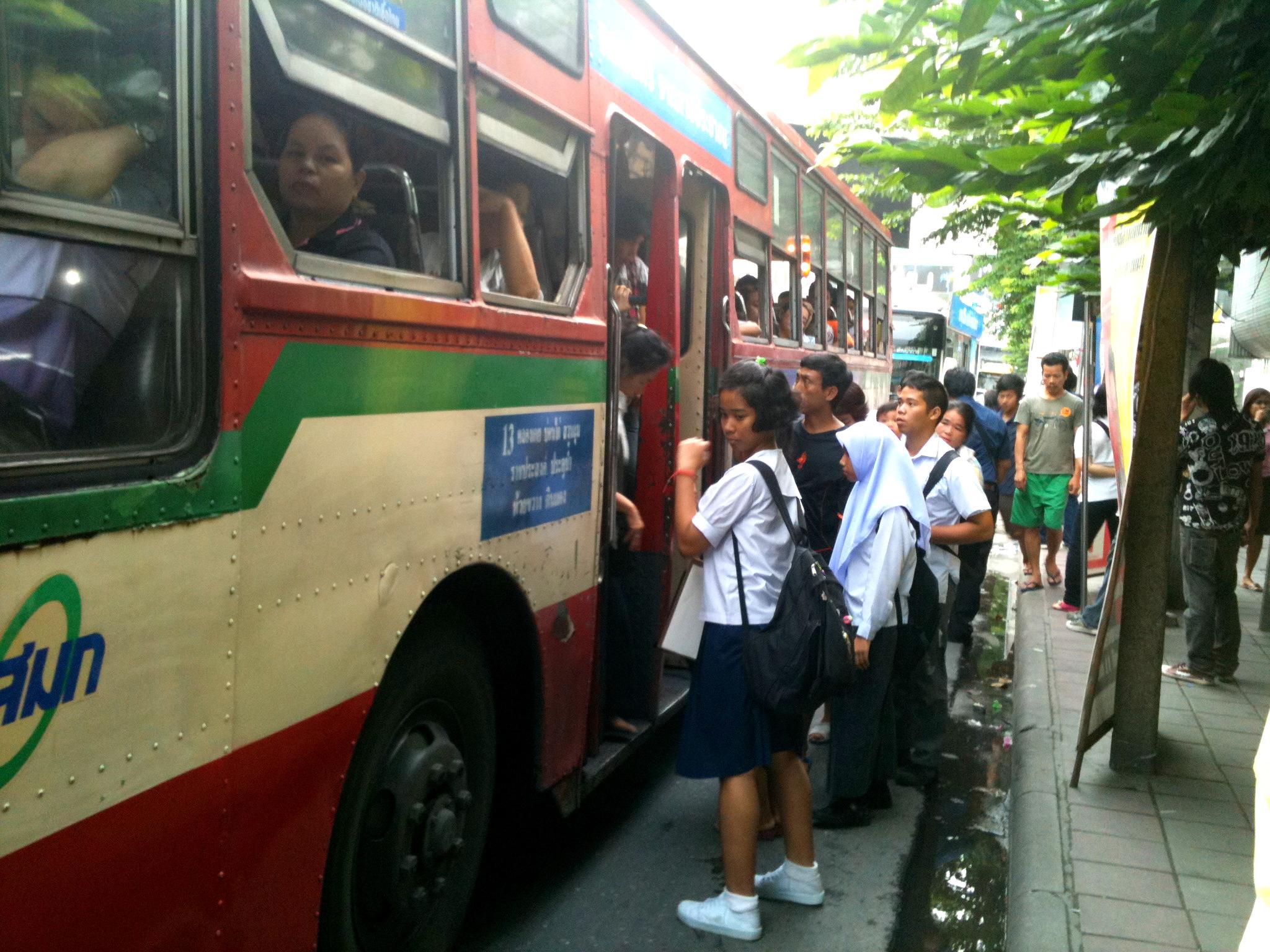 Bangkok (ostatni spacer autobusem i rzeką) 5